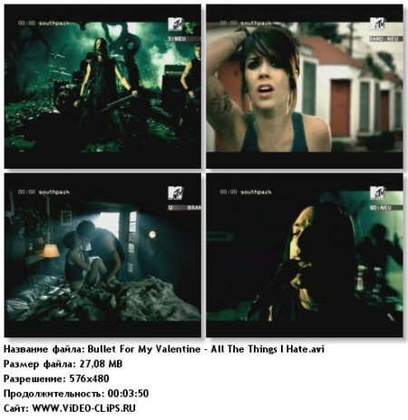 Bullet For My Valentine - All The Things I Hate