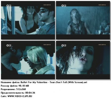 Bullet For My Valentine - Tears Don't Fall (Scream Version)