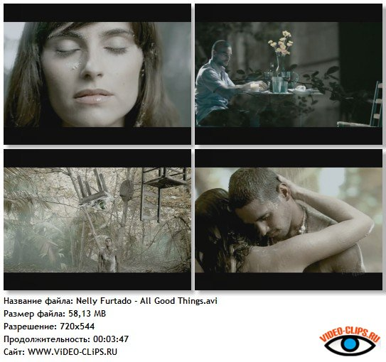 Смотреть клип nelly furtado all good things (come to an end.