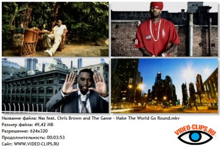 Nas feat. Chris Brown and The Game - Make The World Go Round