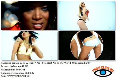 Alex C. feat. Y-Ass - Sweetest Ass In The World