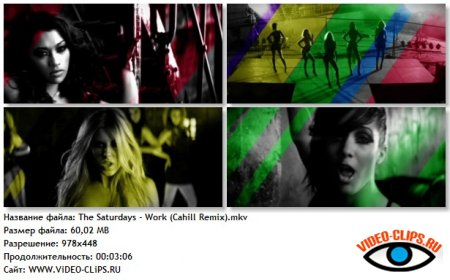 The Saturdays - Work (Cahill Remix)